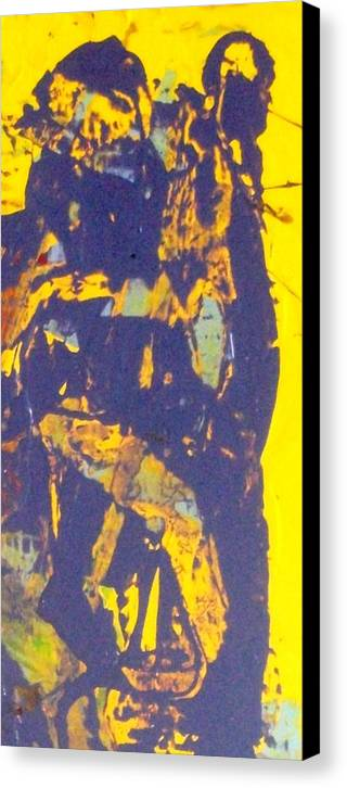 Abstract Canvas Print featuring the painting The Devil Behind St. Steven by Bruce Combs - REACH BEYOND