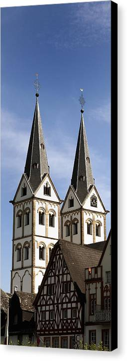 Steeple Canvas Print featuring the photograph Steeples by Cecil Fuselier