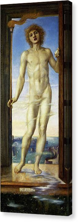 Day Canvas Print featuring the painting Day - Digital Remastered Edition by Edward Burne-Jones