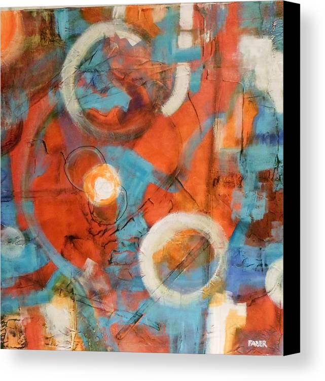 Abstract Canvas Print featuring the painting Untitled by Dawn Faber