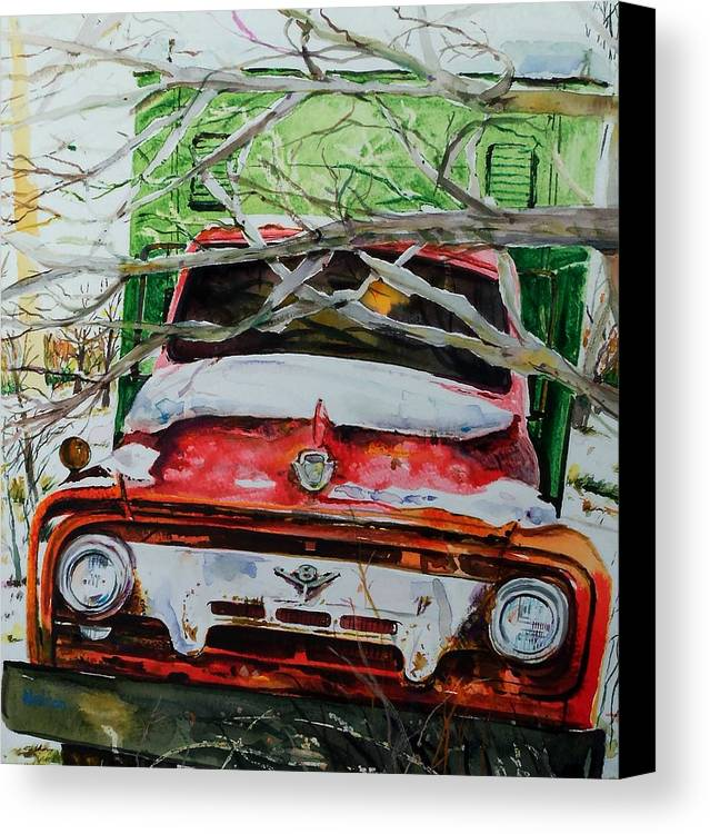 Truck Canvas Print featuring the painting Abandoned Delivery by Scott Nelson