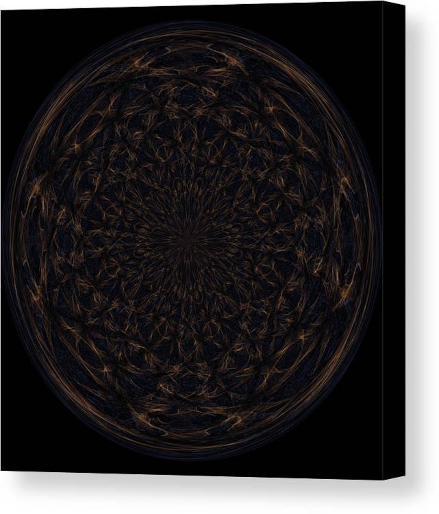 Wall Art Canvas Print featuring the digital art Morphed Art Globe 31 by Rhonda Barrett