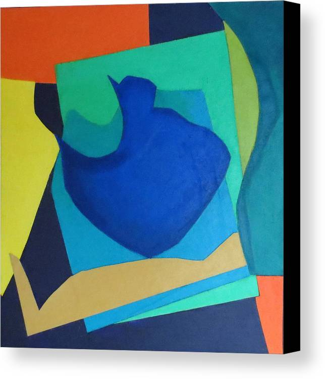 Abstract Expressionism Canvas Print featuring the mixed media Sonata by Diane Fine