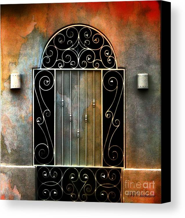 Gate Prints Canvas Print featuring the photograph Spanish Influence by Barbara Chichester