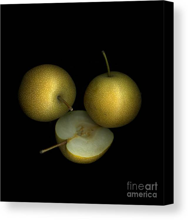 Culinary Canvas Print featuring the photograph Asian Pears by Christian Slanec