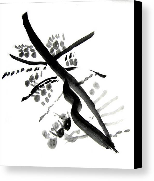 Chinese Brush Canvas Print featuring the painting Chinese Brush Ll by Teri Ann Foley