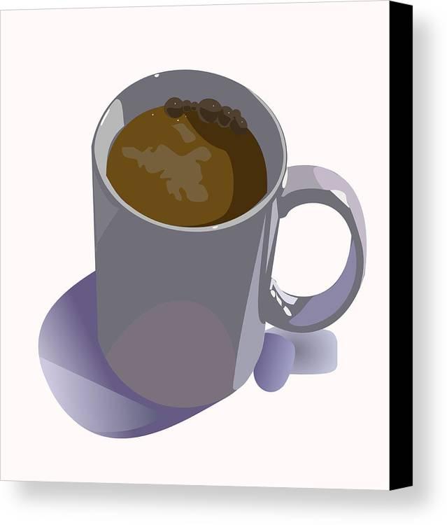 Coffee Canvas Print featuring the digital art Coffee Mug by Robert Bissett
