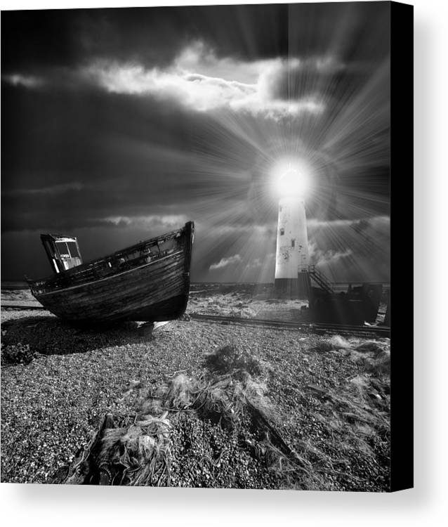 Boat Canvas Print featuring the photograph Fishing Boat Graveyard 7 by Meirion Matthias
