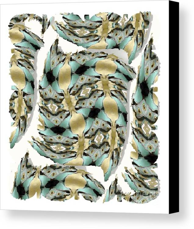 Abstract Canvas Print featuring the digital art Harnesses Plus by Ron Bissett