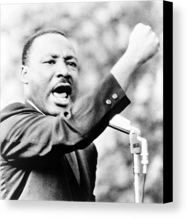 History Canvas Print featuring the photograph Martin Luther King, Jr., Gesturing by Everett
