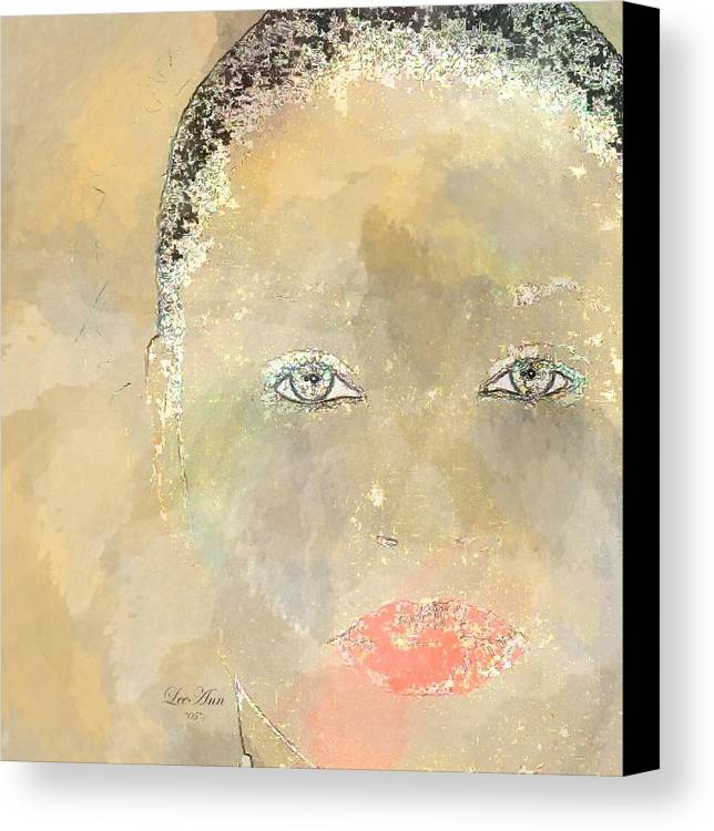 Portrait Canvas Print featuring the digital art Rocky by LeeAnn Alexander