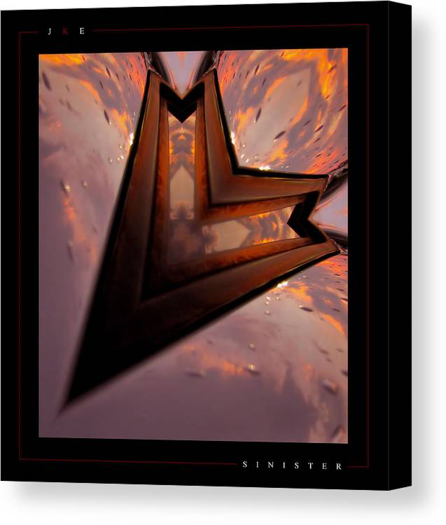 Abstract Canvas Print featuring the photograph Sinister by Jonathan Ellis Keys