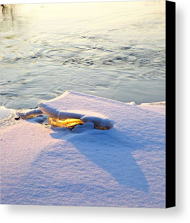 Sunshine Canvas Print featuring the photograph Sun And Ice by Robert Pearson