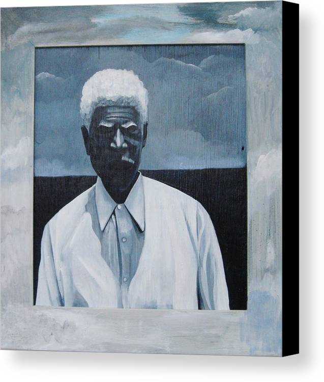 Man Canvas Print featuring the painting Survivor James by Joyce Owens