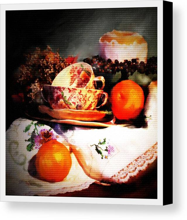 Still Life Canvas Print featuring the photograph Tangerine by Ken Barker