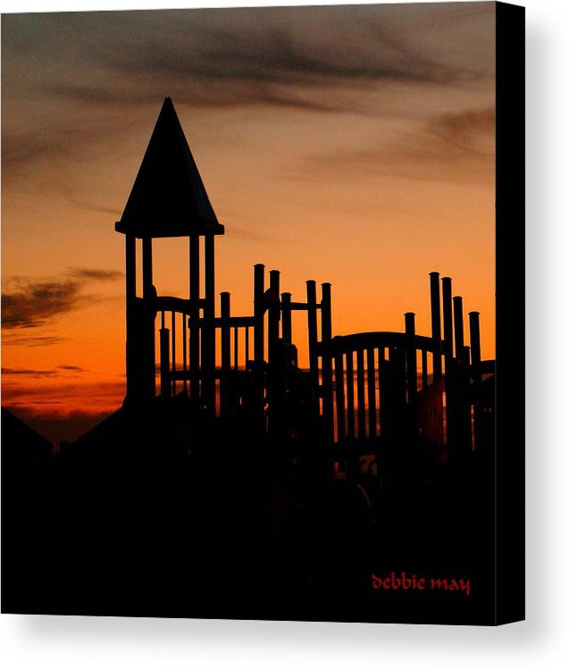 Beach Canvas Print featuring the photograph The Gulf Graveyard by Debbie May