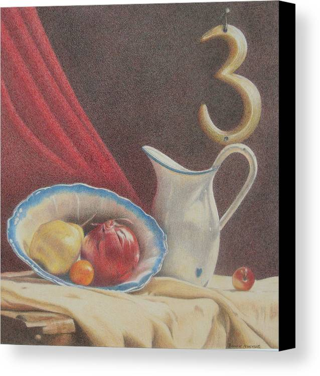 Still Life Canvas Print featuring the painting The Third Element by Bonnie Haversat