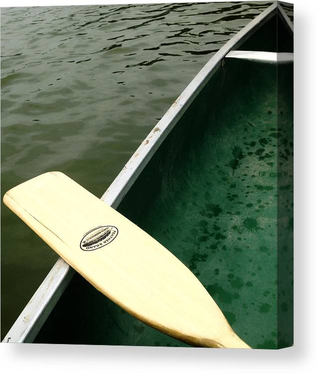 Boat Canvas Print featuring the photograph Green Boat by The Artist Project