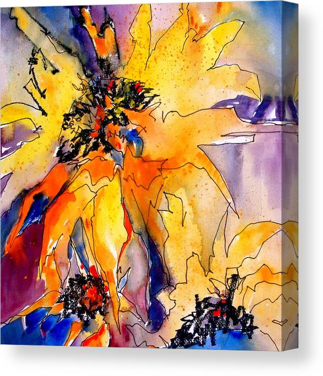 Sunflowers Canvas Print featuring the painting Bring On The Sun by Jane Ferguson