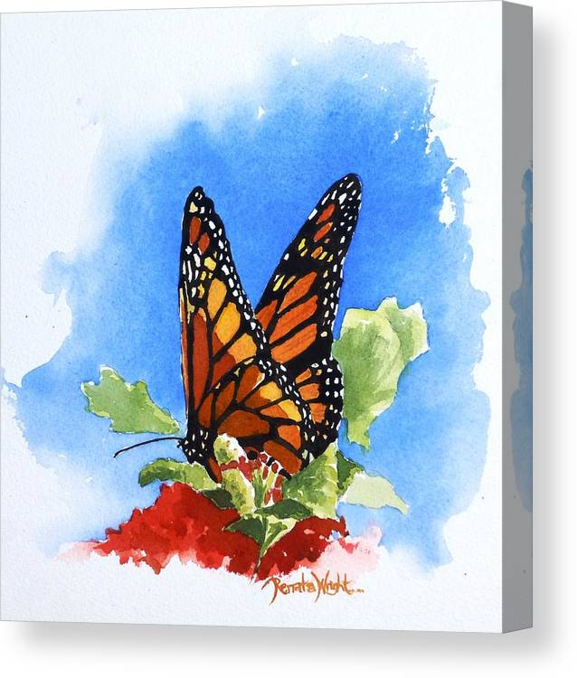 Monarch Canvas Print featuring the painting Monarch by Renata Wright