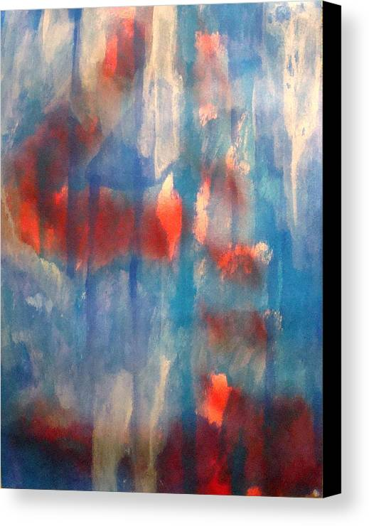 Christian Canvas Print featuring the painting On A Clear Day - Red Forever by W Todd Durrance
