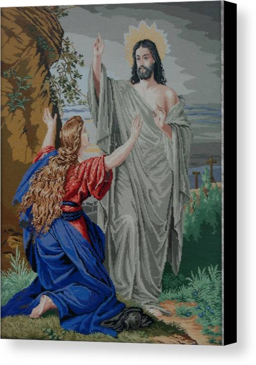 Resurrection Canvas Print featuring the tapestry - textile Resurrection by Kalina Nikolova