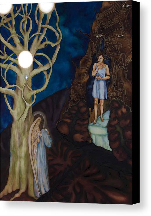 Pearl Beyond Price Canvas Print featuring the painting The Pearl by Rebecca Barham