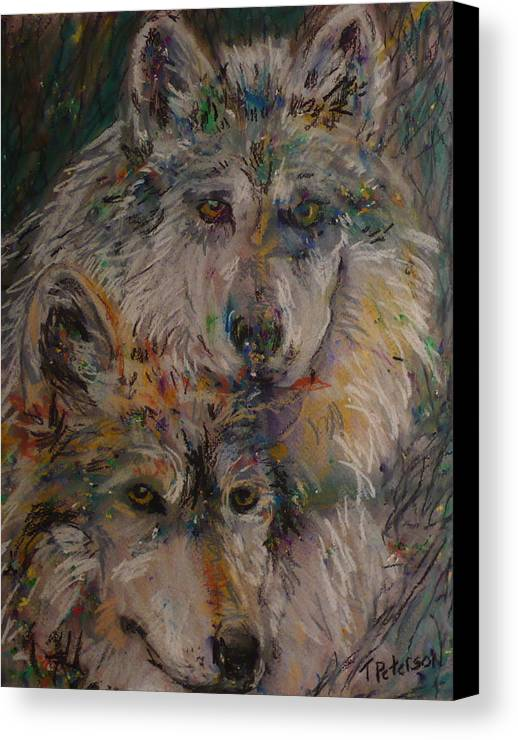 Painting Canvas Print featuring the painting Alpha Pair by Todd Peterson