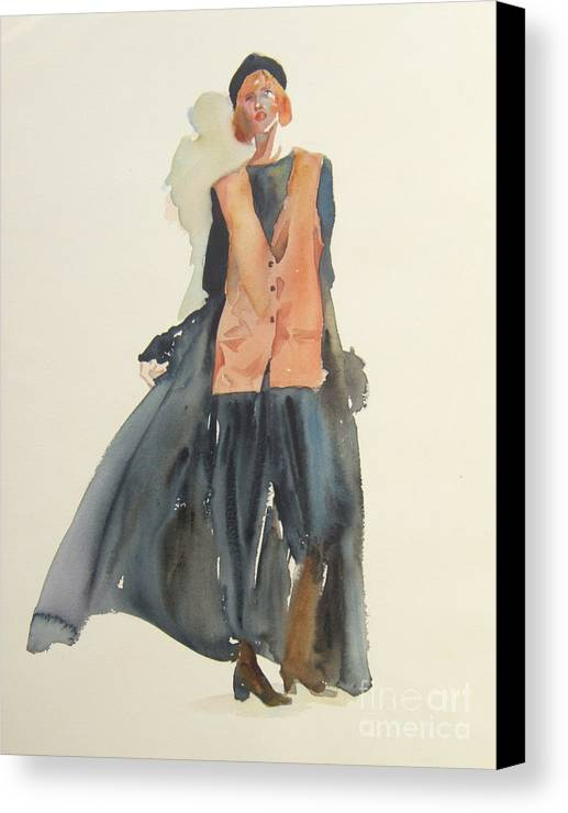Women Canvas Print featuring the painting Casual Elegance by Sherri Crabtree