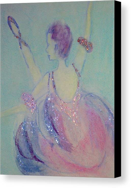 Dancer Canvas Print featuring the painting Dancer At The Follies by Michela Akers