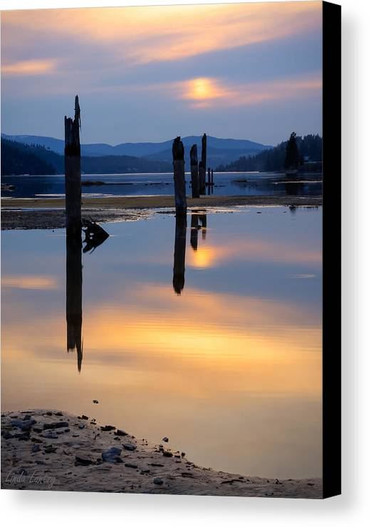 Moody Canvas Print featuring the photograph Mood On The Bay by Idaho Scenic Images Linda Lantzy