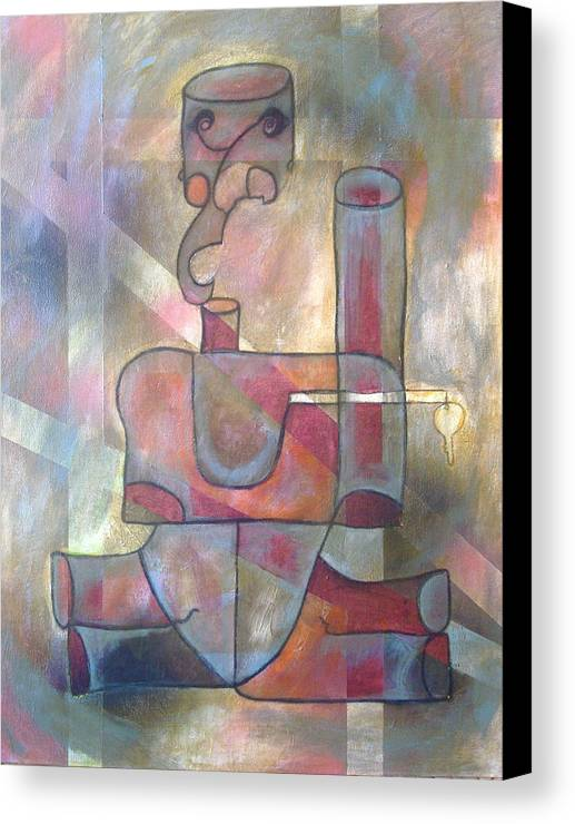 Abstract Canvas Print featuring the painting Open by W Todd Durrance
