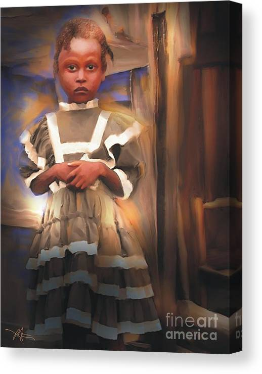 Haiti Canvas Print featuring the painting Gentle Dignity by Bob Salo
