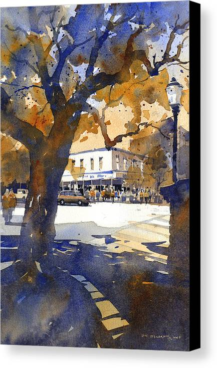 Toomers Oaks Canvas Print featuring the painting The College Street Oak by Iain Stewart