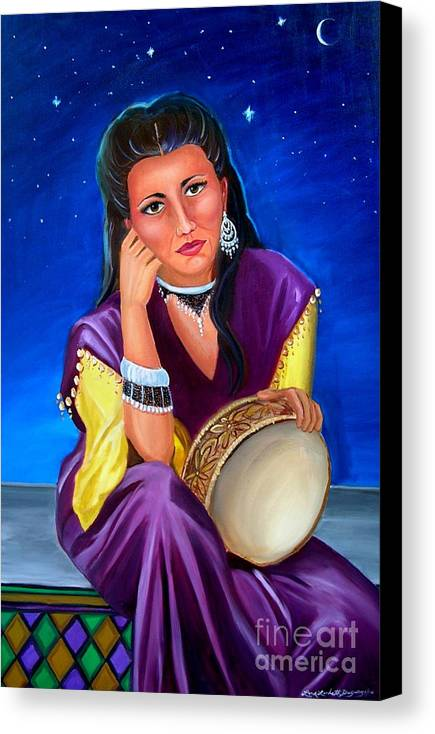 Gypsy Canvas Print featuring the painting The Gypsy by Lora Duguay