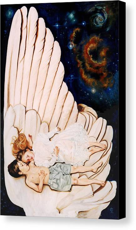 Be Still And Know That I Am God Canvas Print featuring the painting Be Still by Teresa Carter