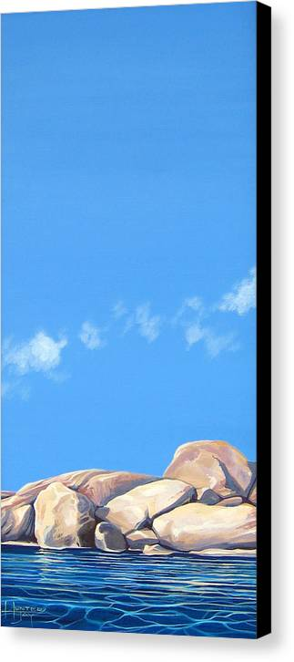Rocks Canvas Print featuring the painting Lost Voices by Hunter Jay