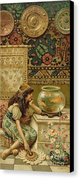 Goldfish Canvas Print featuring the painting Goldfish by William Stephen Coleman