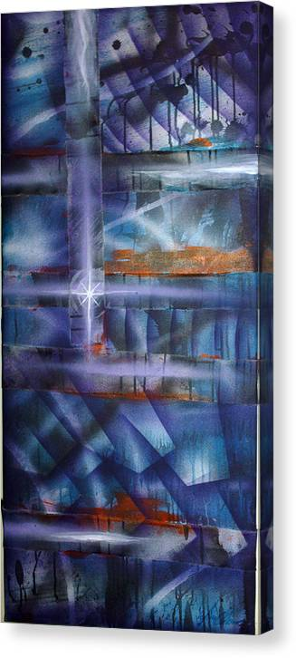 Purple Canvas Print featuring the painting Purple by Leigh Odom