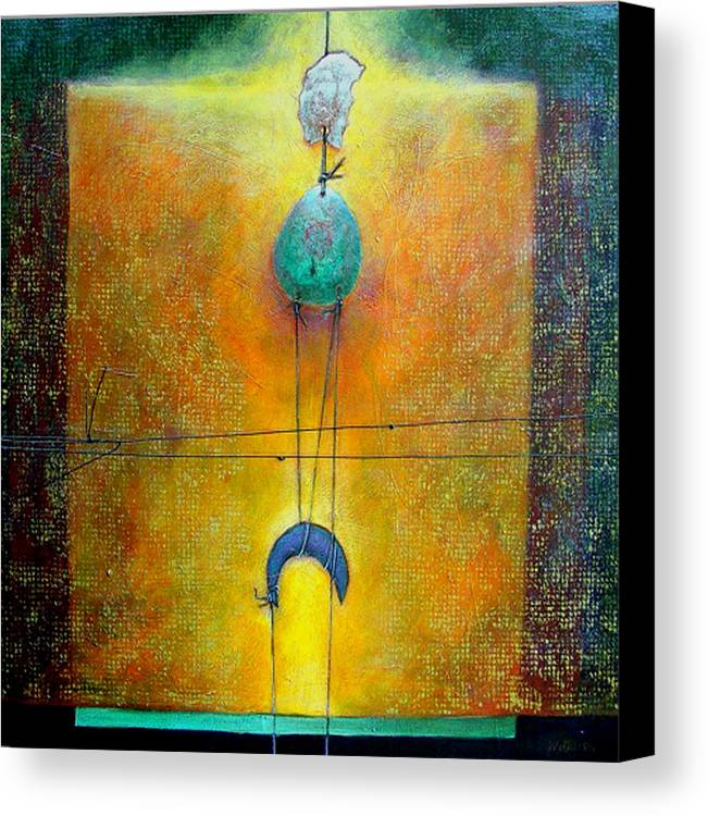 Abstract Canvas Print featuring the painting Memory by Dale Witherow
