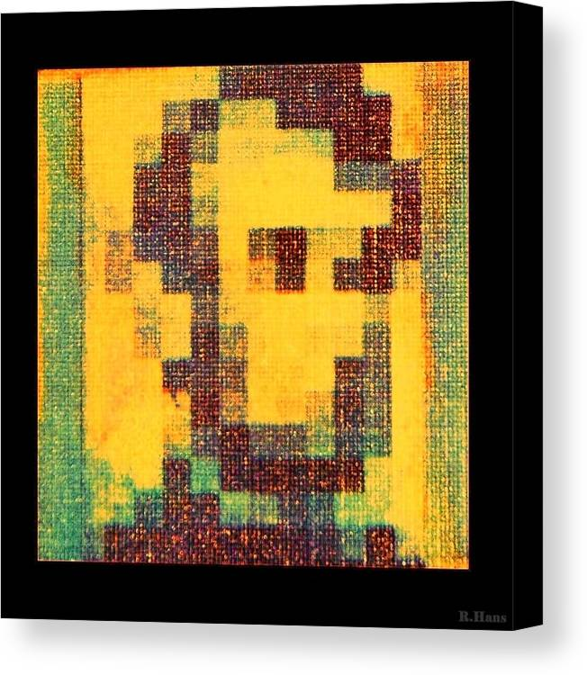 Yellow Canvas Print featuring the photograph Abe In Yellow by Rob Hans