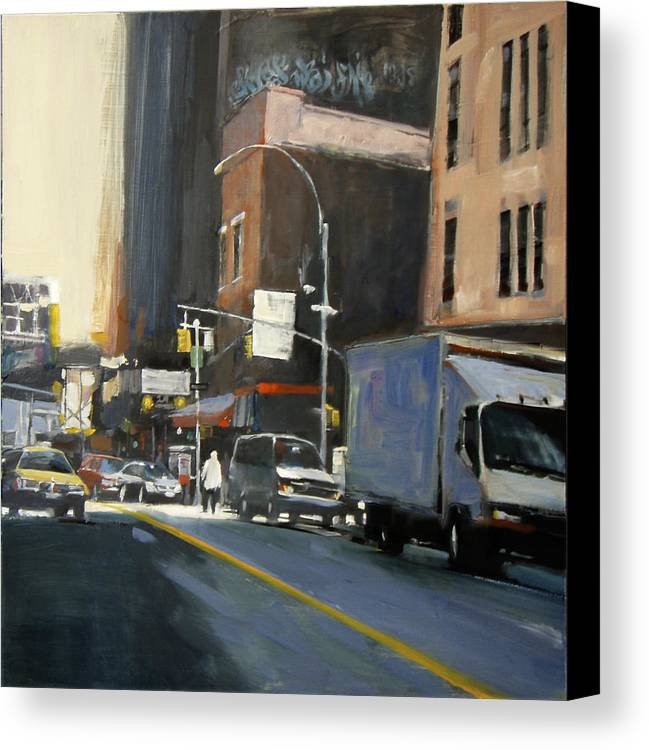 New York City Canvas Print featuring the painting Gallery District by Patti Mollica