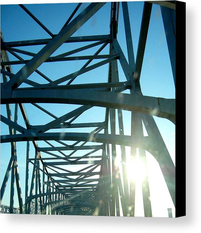 Bridge Canvas Print featuring the photograph Goin To New Orleans by Heather S Huston