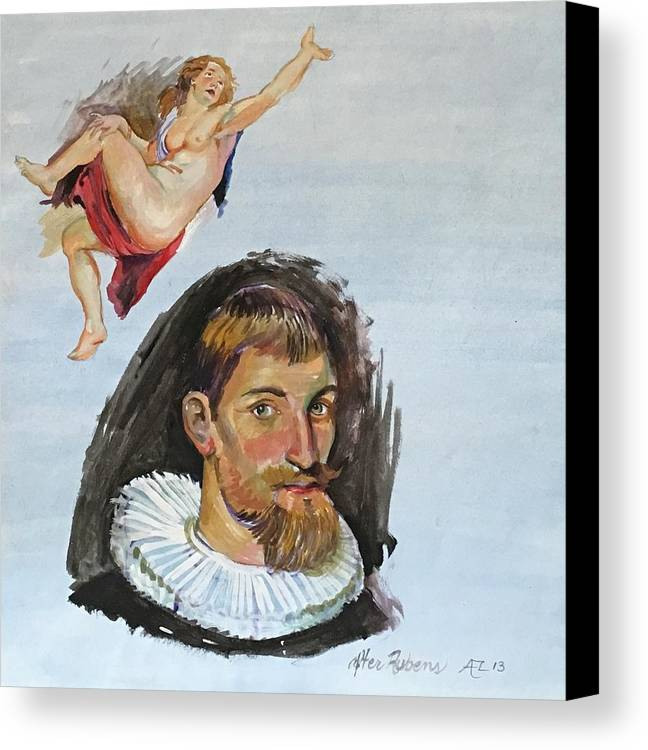 Canvas Print featuring the painting Rubens Copy by Alejandro Lopez-Tasso