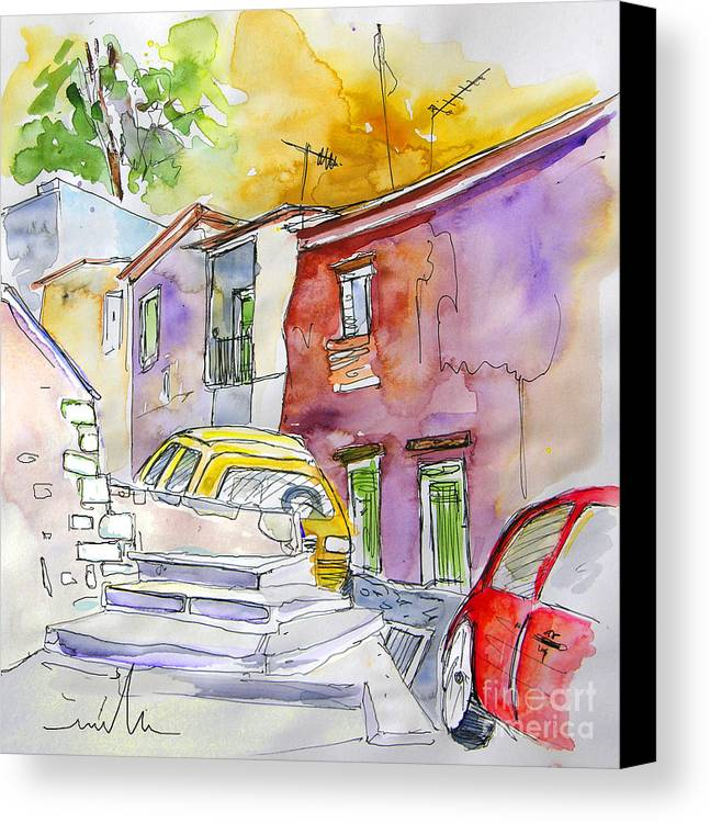 Portugal Paintings Canvas Print featuring the painting Serpa Portugal 12 by Miki De Goodaboom
