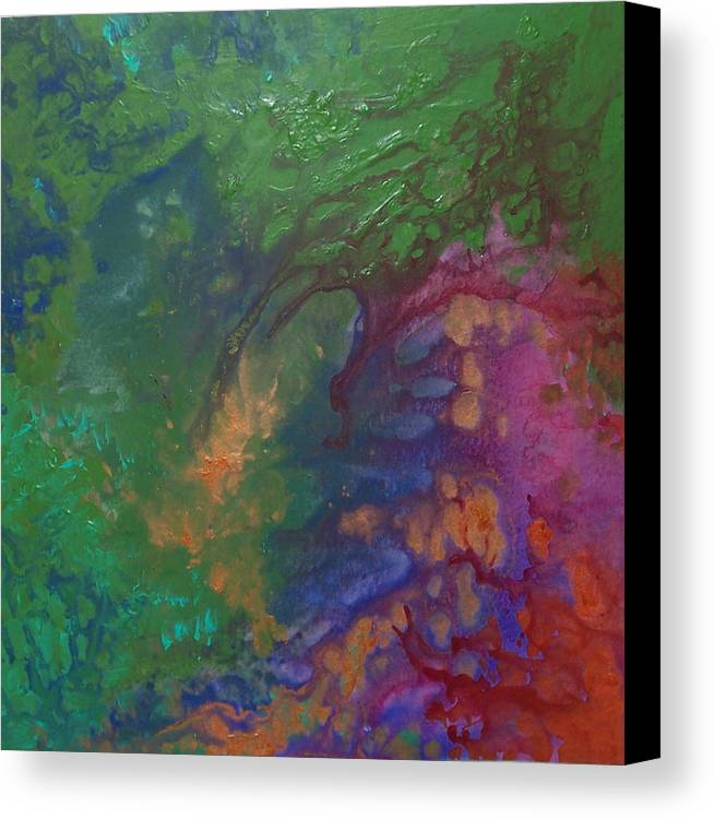 Green Canvas Print featuring the painting Sophia by Jess Thorsen