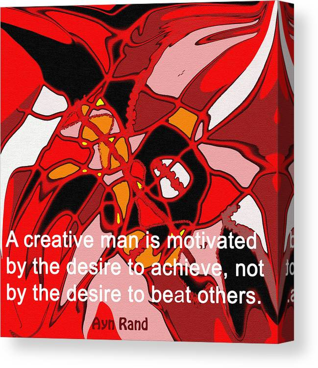 Abstract Canvas Print featuring the digital art A Creative Man by Ian MacDonald
