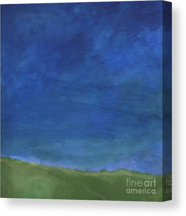Sky Canvas Print featuring the painting Big Sky by Linda Woods