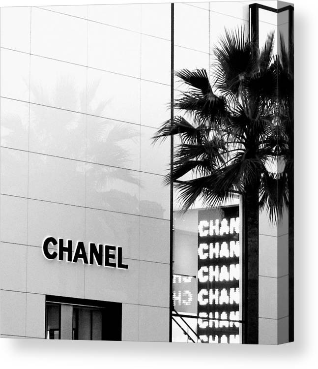 Couture Canvas Print featuring the photograph Chanel On Rodeo Drive by Ronnie Caplan
