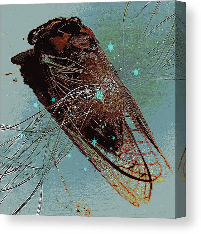 Sound Canvas Print featuring the digital art Sound Waves by Tg Devore